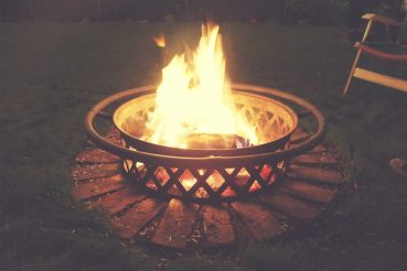 Homemade fire pit.