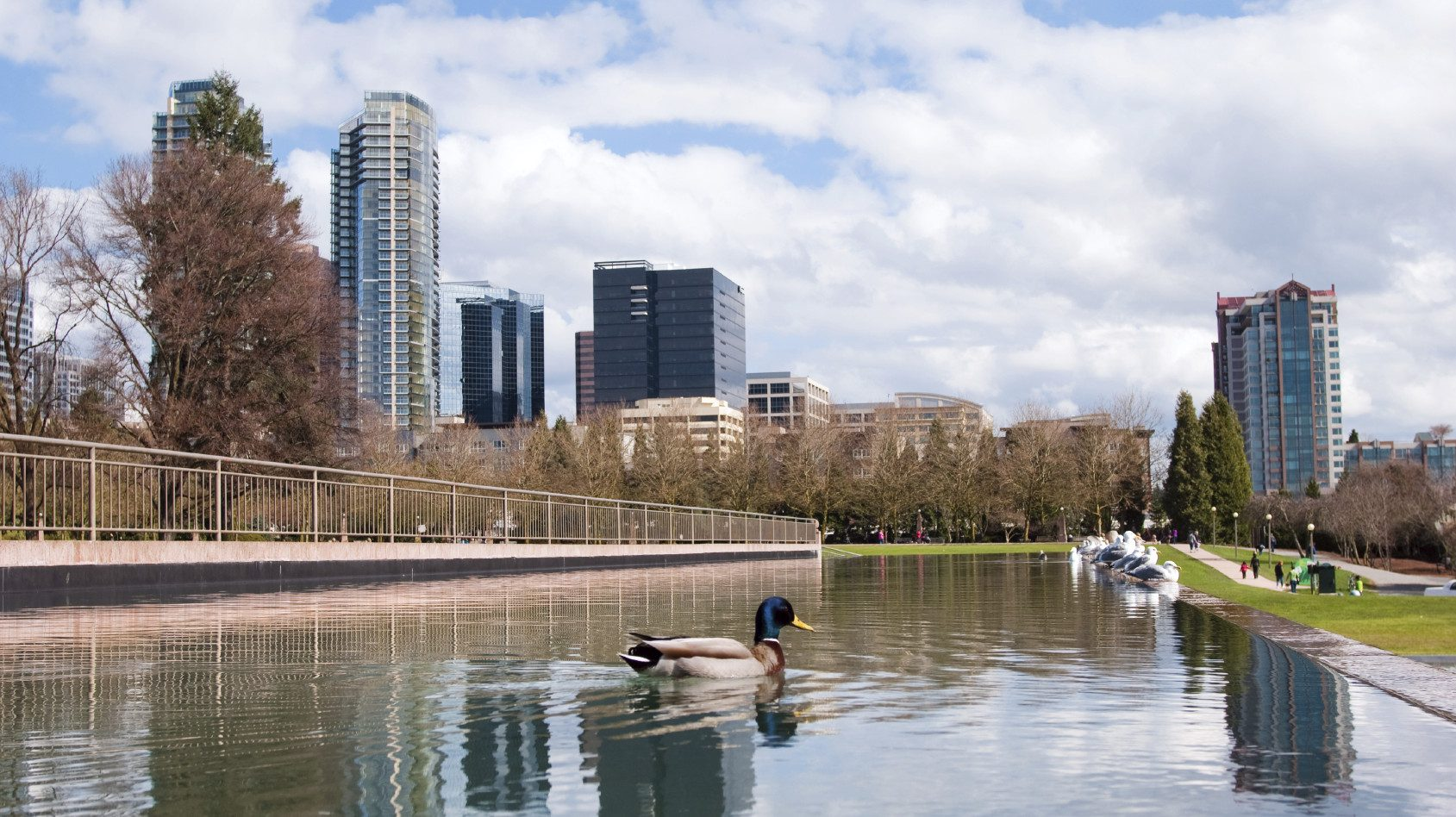 Bellevue, WA has a growing downtown—both in projected population as well as cool factor.