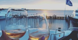 sandestin, yacht, wine, sunset, choctawatchee bay