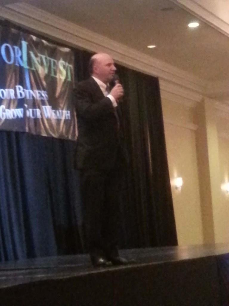Kevin O'Leary takes the stage