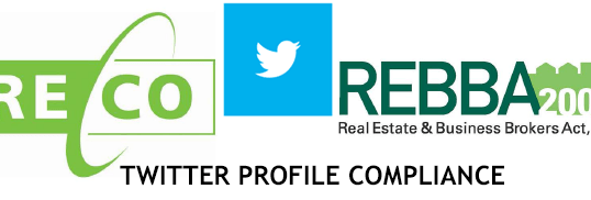 Is Your Twitter Profile RECO and REBBA 2002 Compliant?