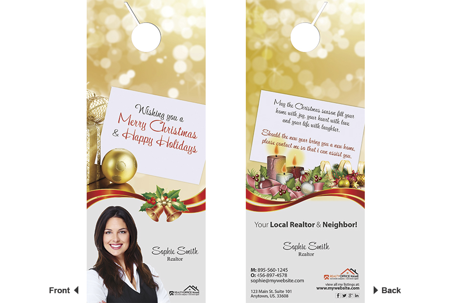 Real Estate Holiday Valentines Day Door Hanger 01