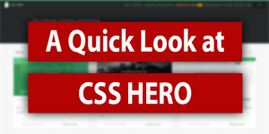 Quick Look at CSS Hero
