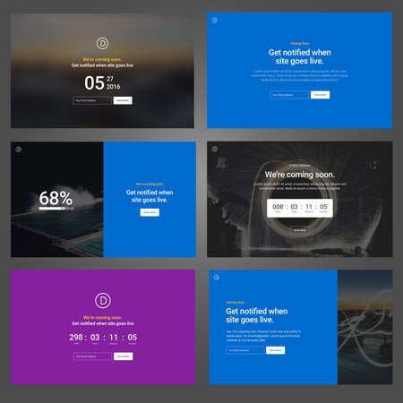 Divi Theme coming soon Page Templates Free