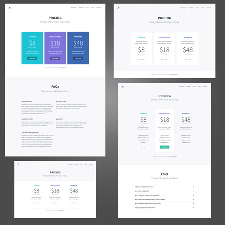 Free divi theme templates web page and website templates - Divi pricing table ...