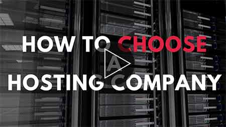 Image text How to choose a hosting company