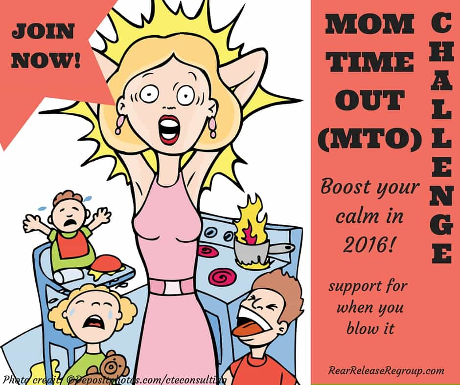 """Join the MTO challenge and boost your calm in 2016! A special Facebook group for moms to interact and share encouragement for those """"real"""" moments"""
