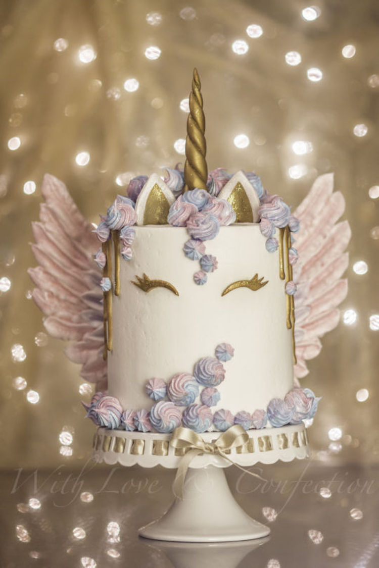 Take Flight With A Winged Unicorn Cake