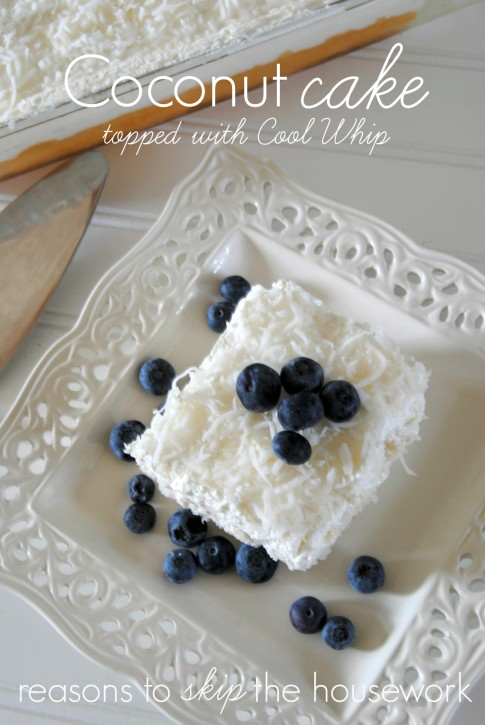 Coconut Cake with Cool Whip