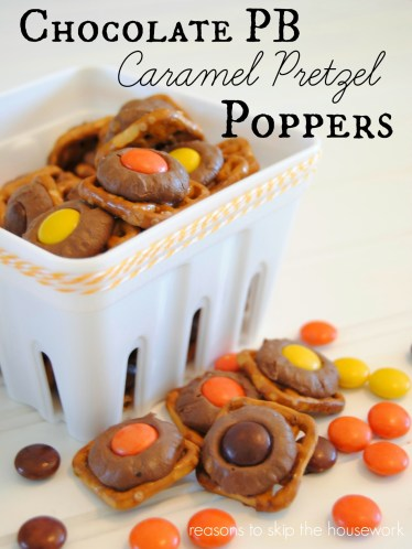 Chocolate PB Caramel Poppers