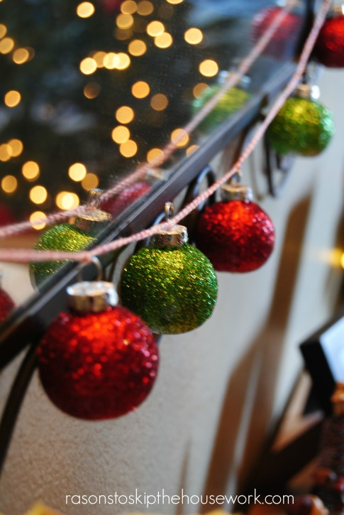 glittered holiday ornaments