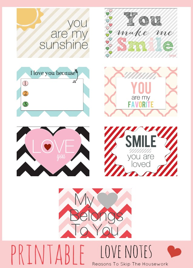 photograph relating to I Love You Because Printable called Printable Get pleasure from Notes