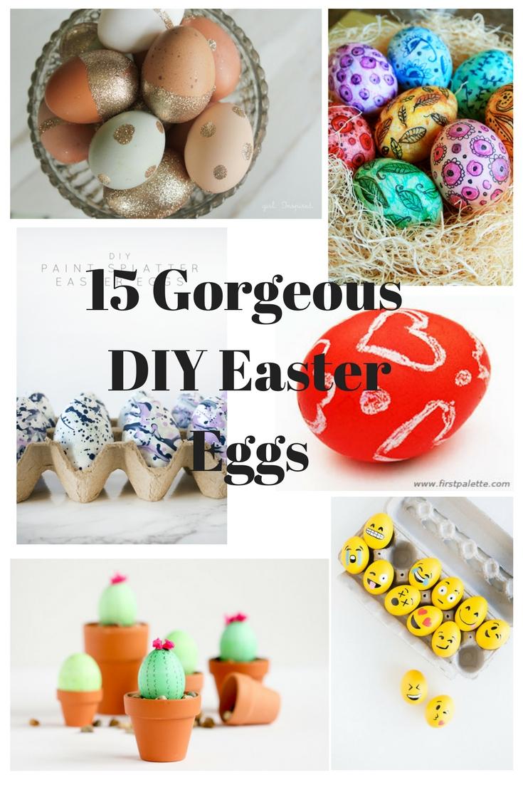 15 Gorgeous DIY Easter Eggs