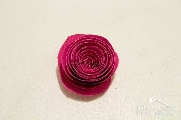 Simple Spiral Paper Flowers-7