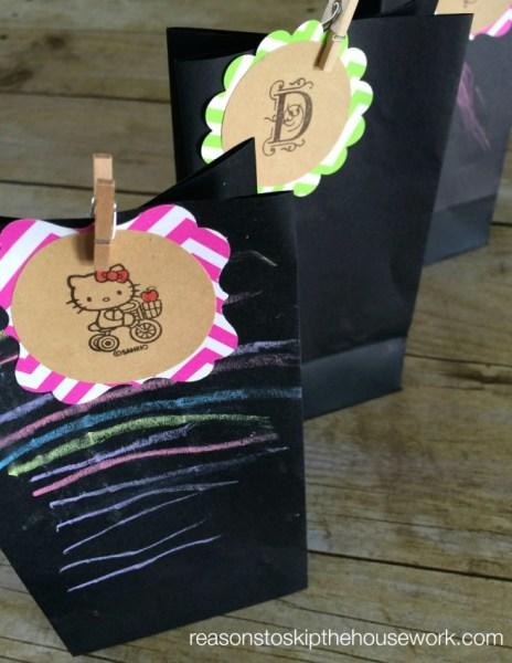 monogram gift tags