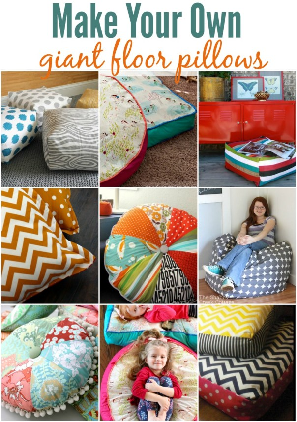 How To Make A Floor Pillow For Baby : Make Your Own Floor Pillows