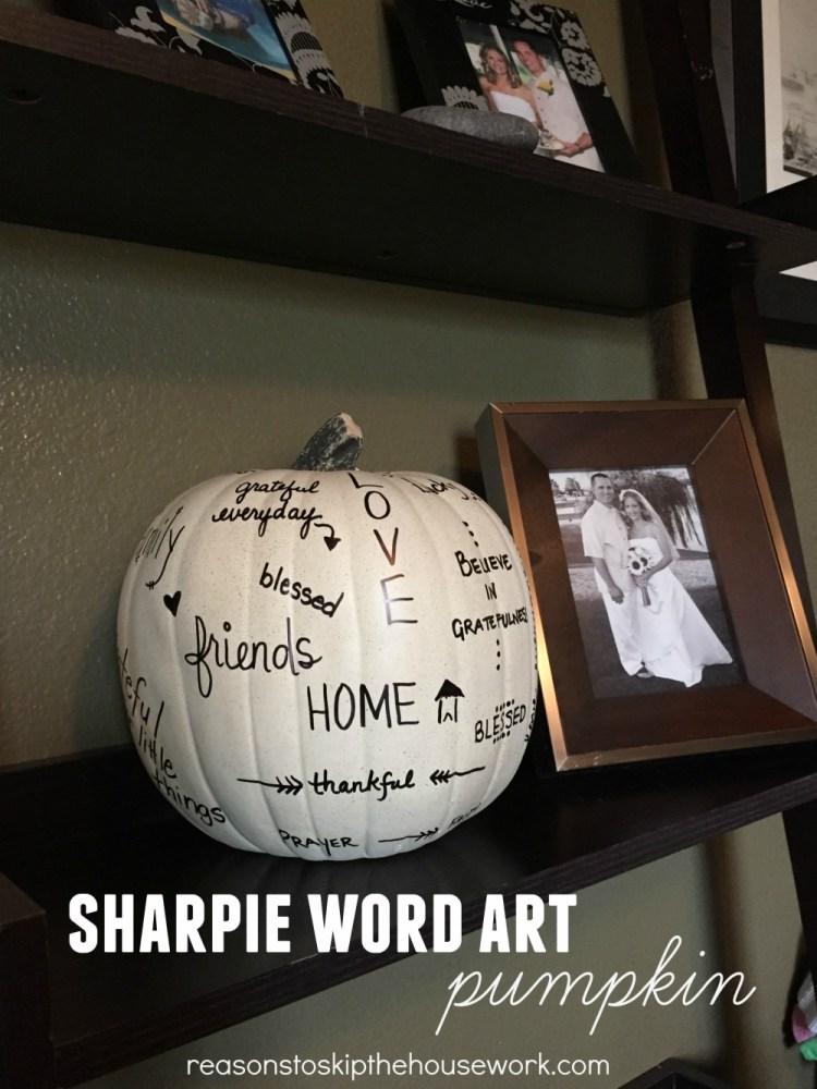 word art pumpkin