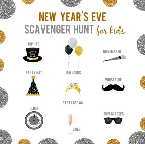 New Years Eve Scavenger Hunt for Kids