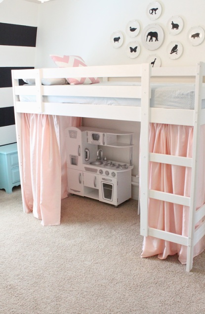 Beautiful IKEA Tented Loft Bed