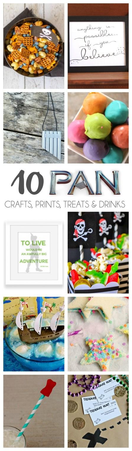 10 Pan Crafts, Prints, Treats & Drinks