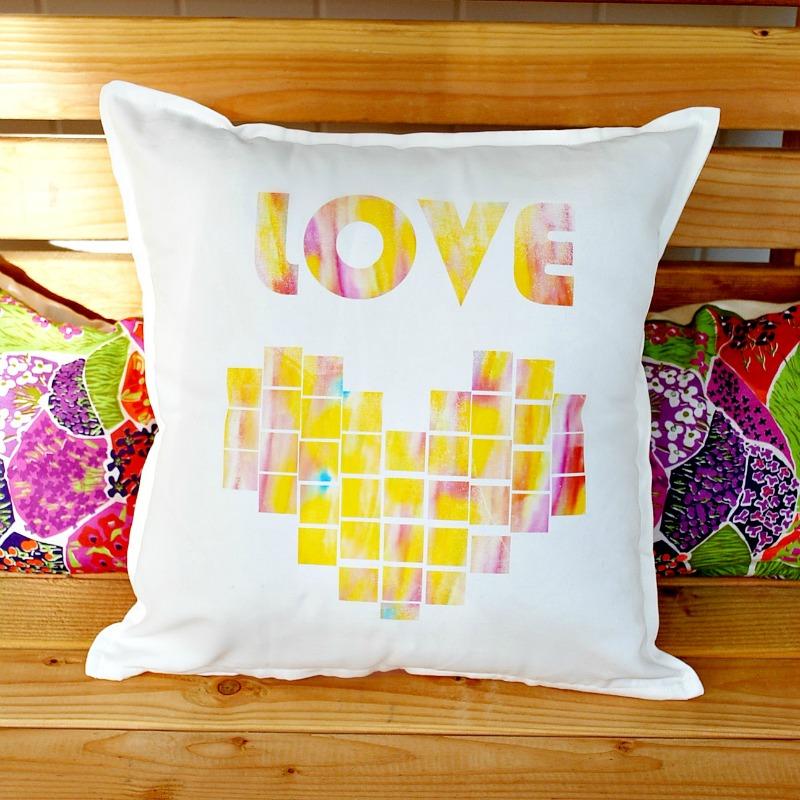 Watercolor Love Pillow