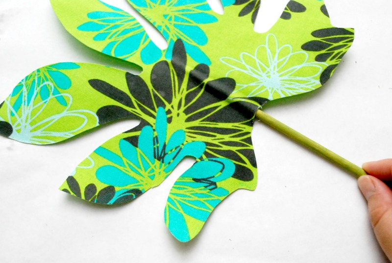 No Sew Fabric Palm Leaf 7