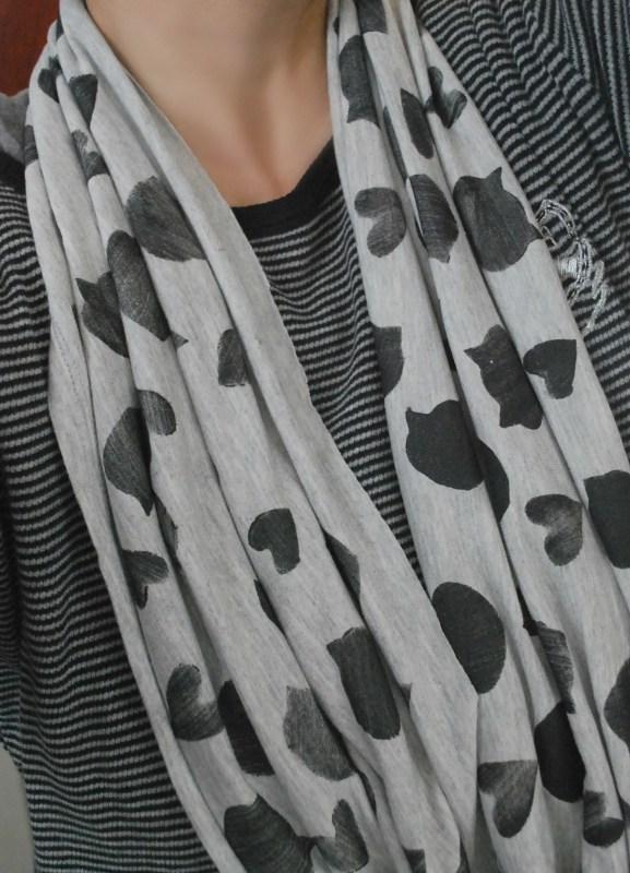 Stamped Cat Infinity Scarf