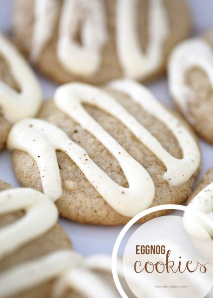 Eggnog Cookies: Eggnog is a favorite seasonal drink, but there are so many ways to to get creative baking with eggnog!