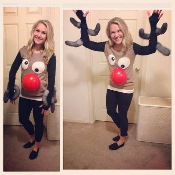 Rudolph Sweater: If you are attending an ugly Christmas sweater party this year, we have got you covered! Here are 25 Ugly Christmas Sweater Ideas for you to use as inspiration.