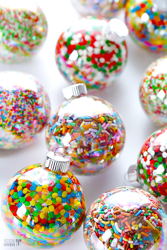 Sprinkle Ornament: These creative handmade ornaments will add a special touch to your Christmas tree this season!