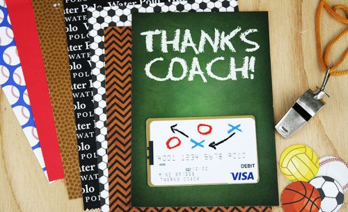 Thanks Coach: Gift Cards can sometimes be a boring thing to give but a great thing to receive. So why not spice up the way you give them!