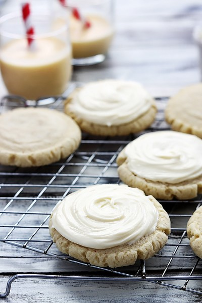 Eggnog Sugar Cookies: Eggnog is a favorite seasonal drink, but there are so many ways to to get creative baking with eggnog!