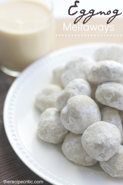 Eggnog Meltaways: Eggnog is a favorite seasonal drink, but there are so many ways to to get creative baking with eggnog!