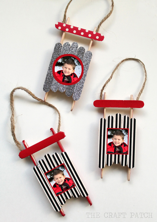 Washi Tape Sleds: These creative handmade ornaments will add a special touch to your Christmas tree this season!