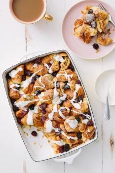 Blackberry Croissant Breakfast Bake