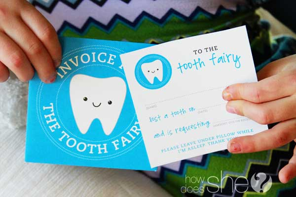 picture about Tooth Fairy Card Printable named Teeth Fairy Printables