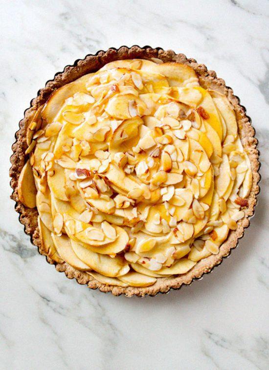 vegan gf apple tart