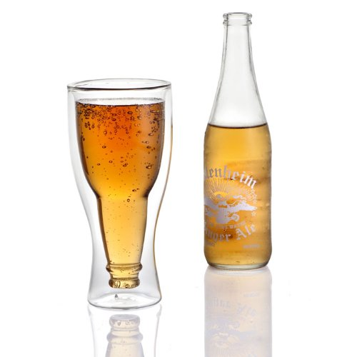 Lily's Home Upside Down Double Wall Beer Glass