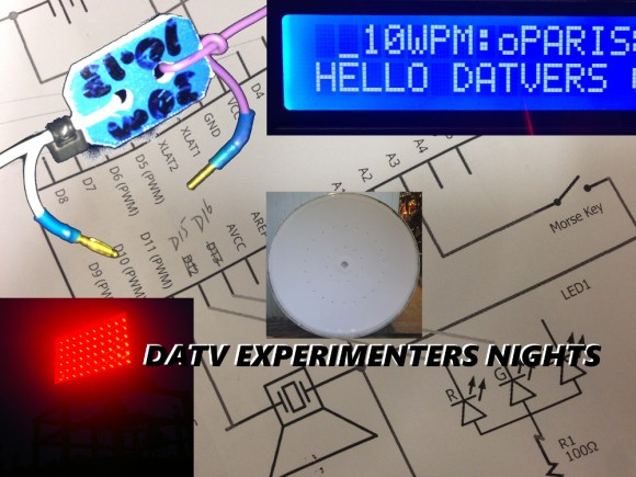 SOTA, Morse decoders - Arduino, Optical communications and Microwave DATV Experimenter's Night