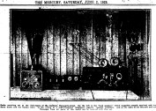 Article snippet from The Mercury, Saturday June 2 1923, depicting a receiving set.