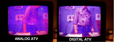 Comparison of 70cm Analog ATV and 23cm Digital ATV (DVB-S) thanks to Jack VK2TRF for loan of the Digital Exciter and to Tom VK7TL for the picture