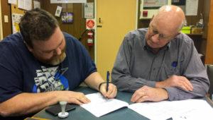 REAST Secretary Scott VK7LXX signs sublease with Barry McCann of TMR