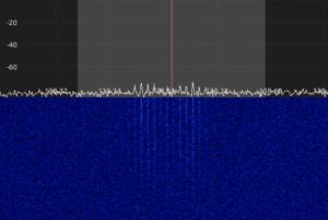 Beginning of signal as NOAAA-18 rises up above the horizon