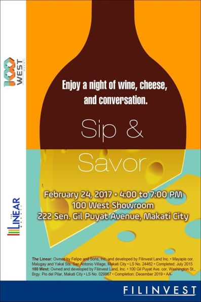 A night of wine, cheese and conversation at 100 West Makati Showroom by Filinvest last February 24, 2017.