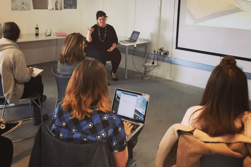 Rebecca Harris artist talk for BA textile Practices at Plymouth College of Art