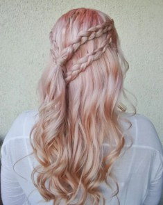 Prom Hair and Makeup Inspiration - Danaerys style prom hair from Rebecca Loves Weddings www.rebeccaanderton.co.uk