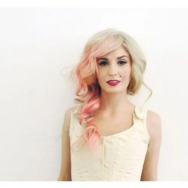 Prom Hair and Makeup Inspiration - Pink hair in chunky braid from Rebecca Loves Weddings www.rebeccaanderton.co.uk