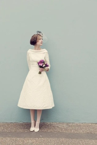 Sixties Wedding Style File - 1960s style bride from Rebecca Loves Weddings www.rebeccaanderton.co.uk