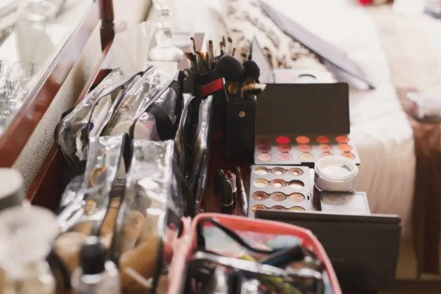 Bridal makeup artist workstation. Make up and hair by www.rebeccaanderton.co.uk