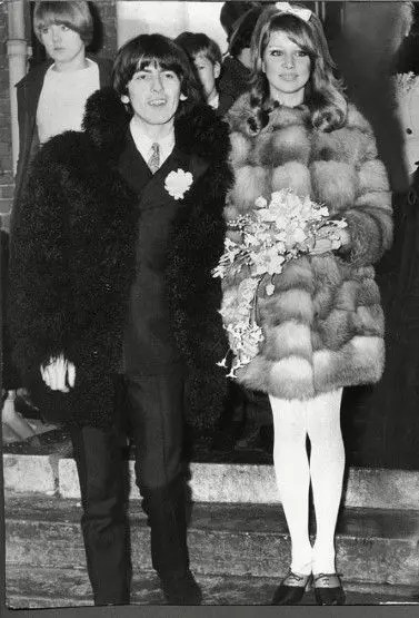 Sixties Wedding Style File - George Harrison and Patti Boyd wedding 1966 from Rebecca Loves Weddings www.rebeccaanderton.co.uk